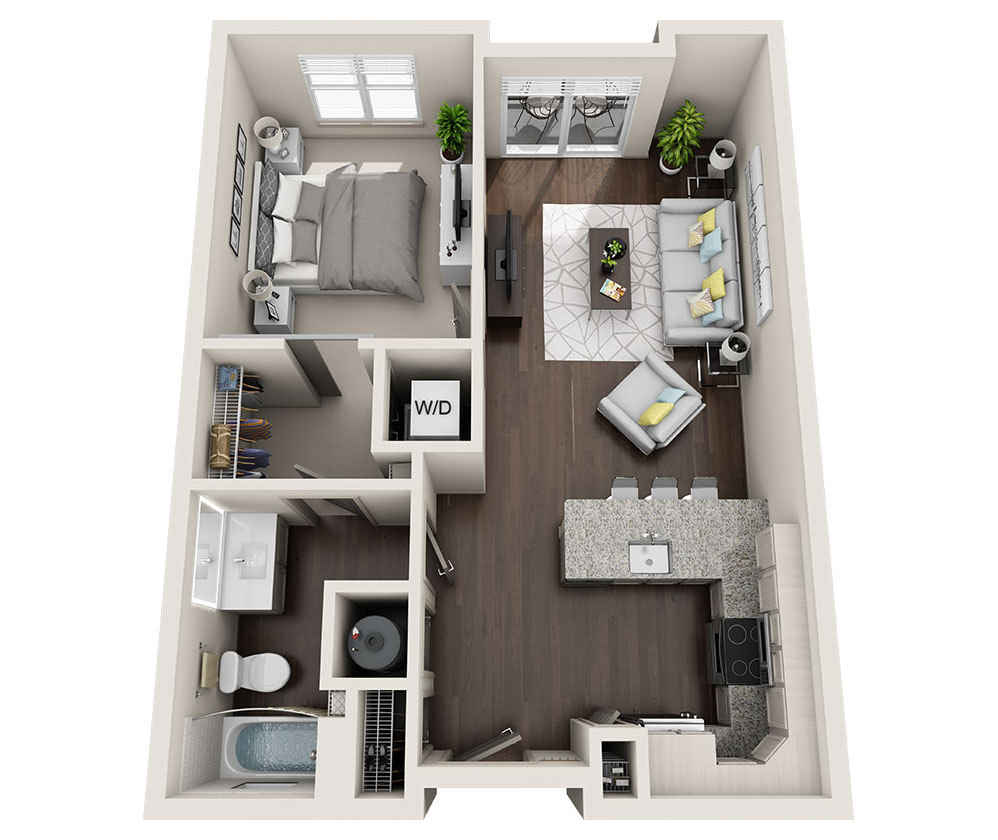 Beacon Station Apartments | Apartment A1 Floor Plan