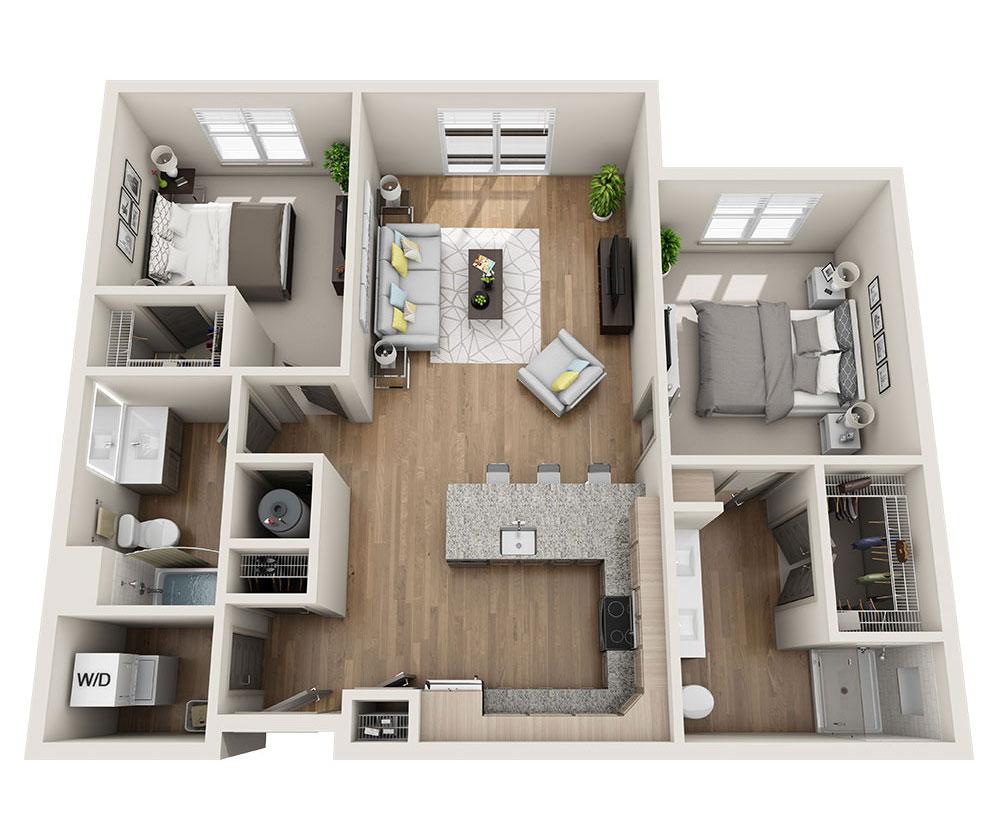 Beacon Station Apartments | Apartment B1-A Floor Plan