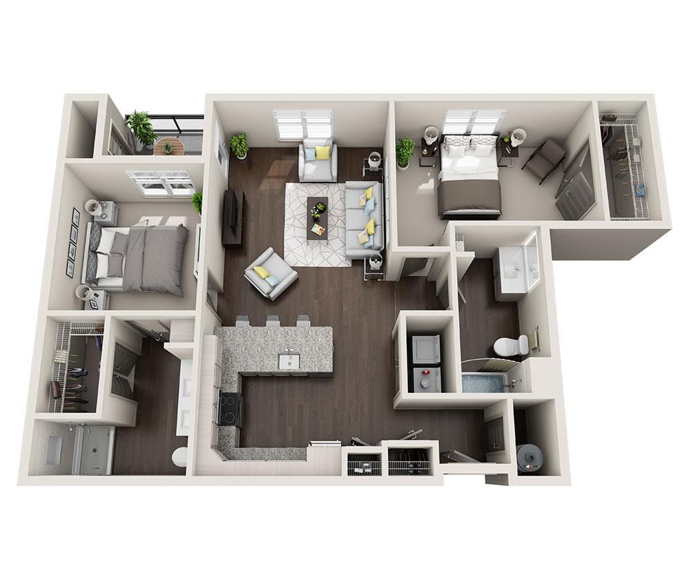 Beacon Station Apartments | Apartment B1-B Floor Plan