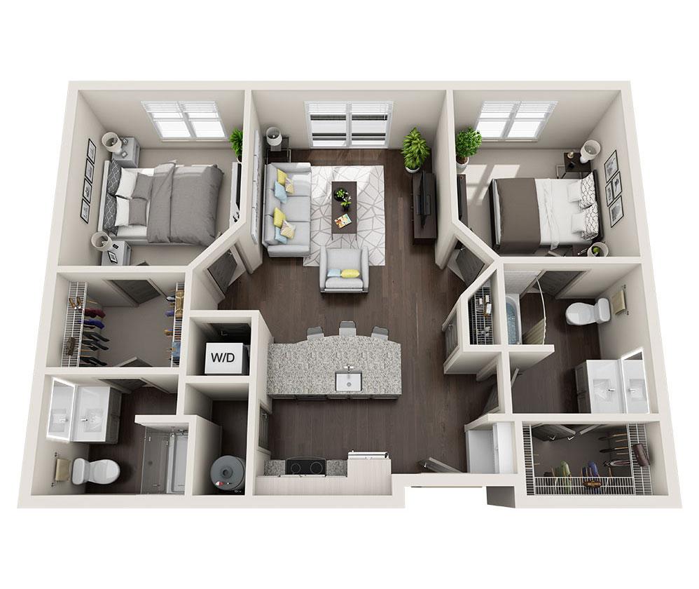 Beacon Station Apartments | Apartment B3 Floor Plan
