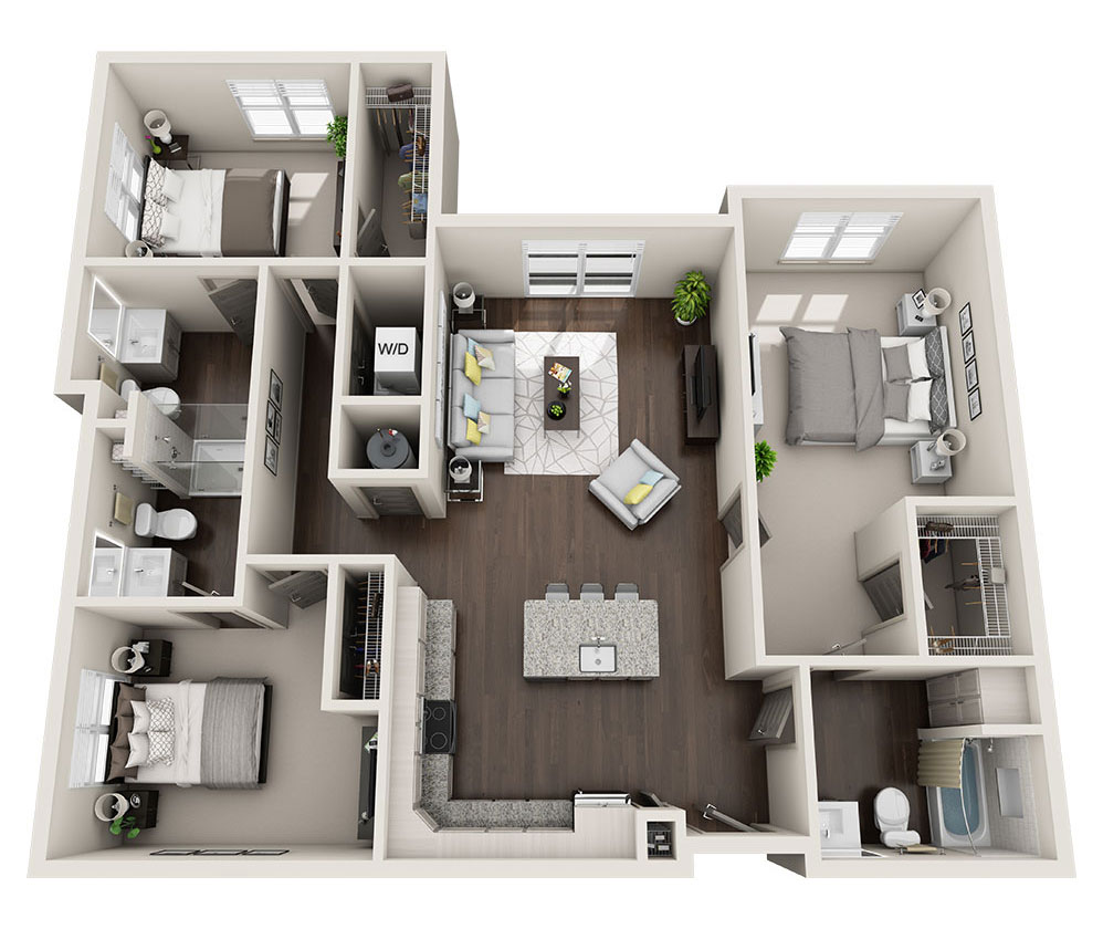 Beacon Station Apartments | Apartment C1 Floorplan
